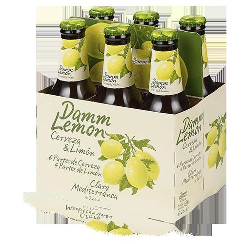 Cervesa Damm Lemon Ampolla Vidre 25cl - Pack 6ud