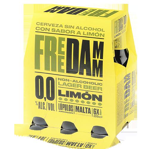 Cervesa Free Damm Llimona Ampolla Vidre 25cl - Pack 6