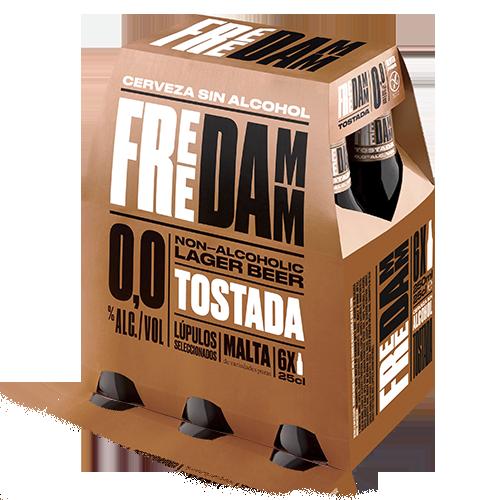 Cervesa Free Damm Torrada Ampolla Vidre 25cl - Pack 6