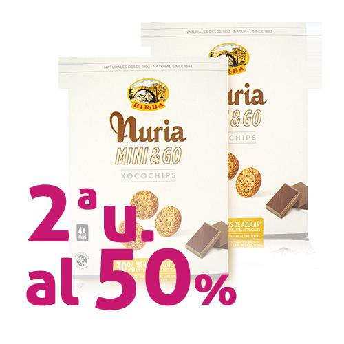 Pack 2u. Galeta Mini & Go Xocoxips 200g Nuria-Birba