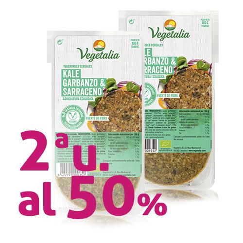 Pack 2u. Vegeburguer Cigró i Kale Bio (160 g) Vegetalia