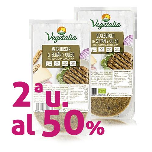 Pack 2u. Vegeburguer Seità i Formatge Bio (160 g) Vegetalia