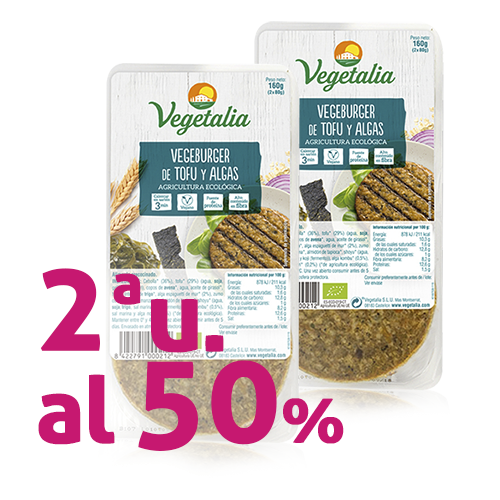 Pack 2u. Vegeburguer Tofu i Algues (160 g) Vegetalia