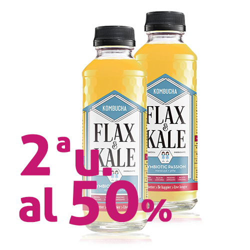 Pack 2u. Kombutxa Symbiotic Passion (400 ml) Flax & Kale