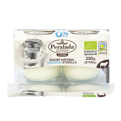 Iogurt d'Ovella Desnatat Bio Pack 2u x 125g Peralada