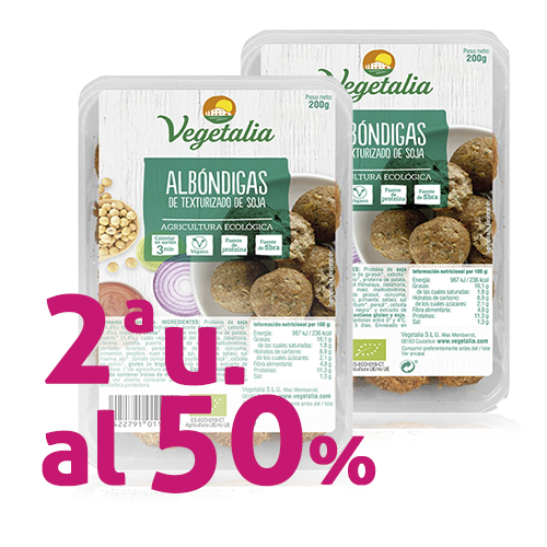 Pack 2u. Mandonguilles de Soja Bio 200g Vegetalia