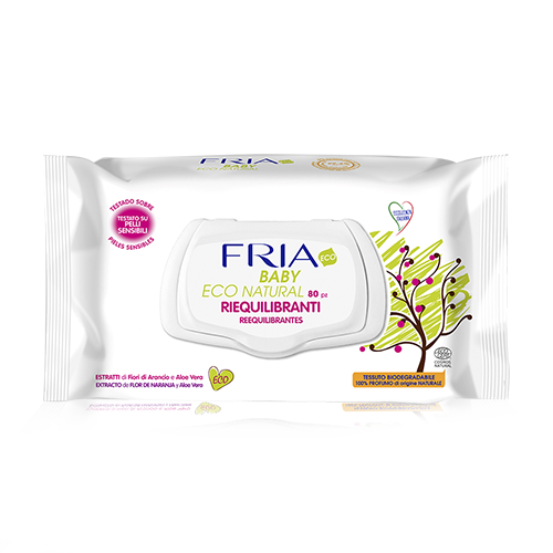 Tovalloletes Baby Biodegradables 80u Fria