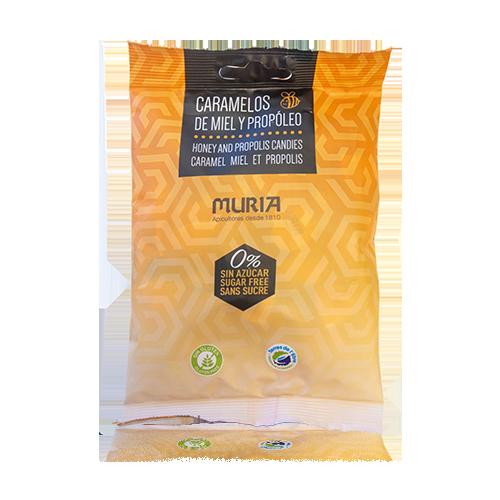 Caramelos Miel y Propolis s/azúcares 65g Muria