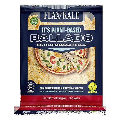 Queso Vegano Rallado Pizza Mozzarella 100g Flax & Kale