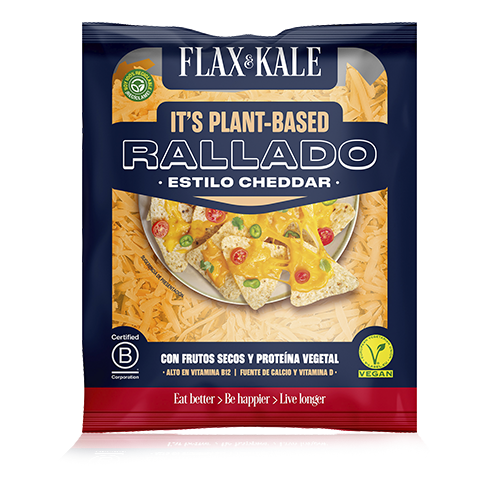 Queso Vegano Rallado Nachos Cheddar 100 g Flax and Kale