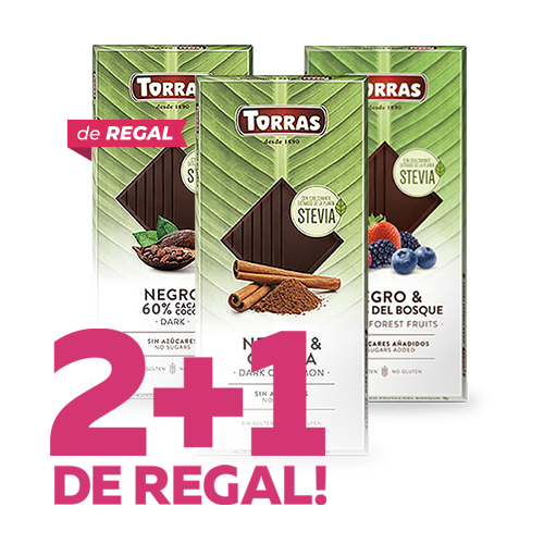 2+1 de Regalo - Chocolate Negro Torras