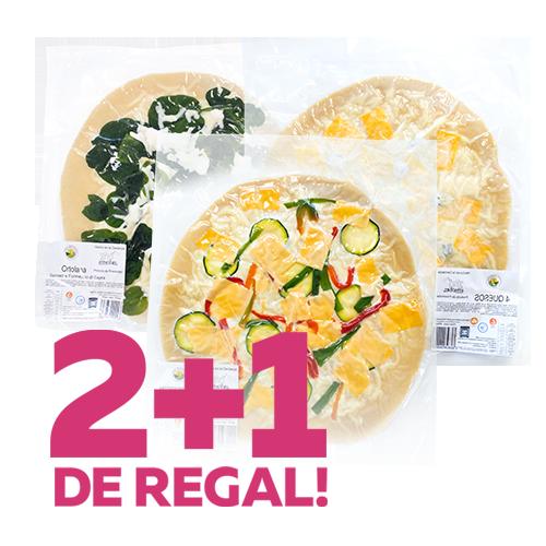 2+1 de Regalo Pizzas Borbonia