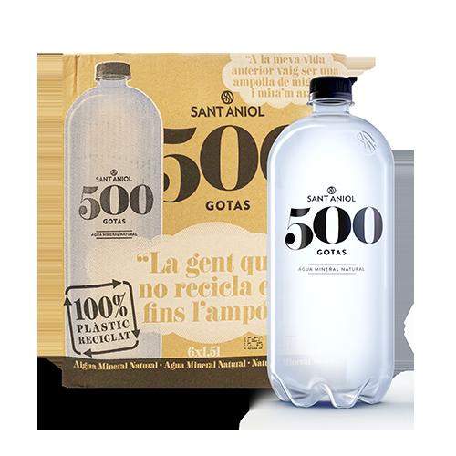 Agua 500 Gotas Botella 1,5 l. Sant Aniol - Pack 6