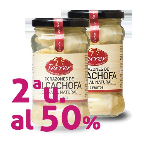2ª u. al 50% Corazones de Alcachofa Extra (290g) Ferrer