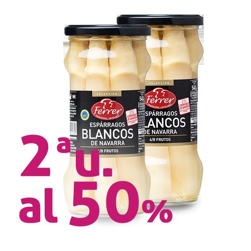 2ª u. al 50% Espárrago blanco de Navarra (540g) Ferrer