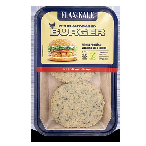 Carn Vegana Burger sabor Pollastre 2u Flax&Kale