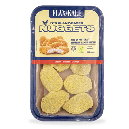 Carn Vegana Nuggets sabor Pollastre 2u Flax&Kale