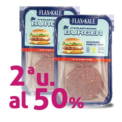 Pack 2u. Carn Vegana Burger sabor Vedella 2u Flax&Kale