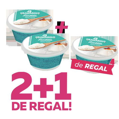 Pack 2+1 de Regal Ricotta 250g Granarolo
