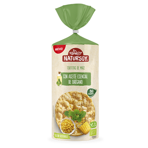 Coques de blat de moro amb oli d'Orenga 180g Natursoy