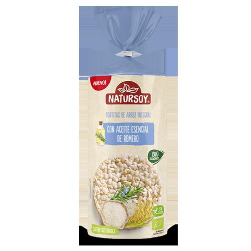 Coques d'arròs integral amb oli de Romaní 180g Natursoy