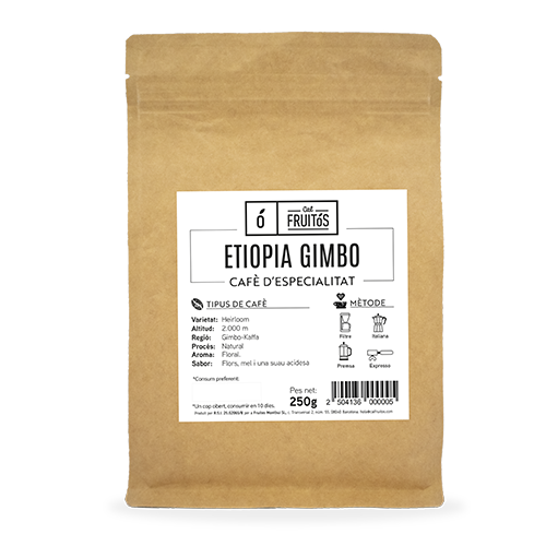 Café en Gra Especialidad Etiopia 250g Cal Fruitós