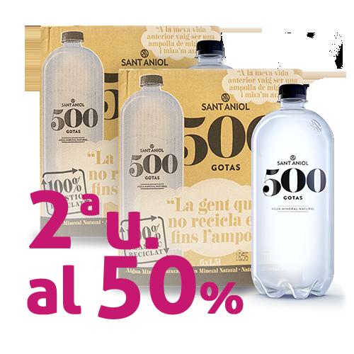 Pack 2u. Agua 500 Gotas Botella 1,5 l. Sant Aniol - Pack 6