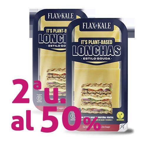 Pack 2u. Queso Vegano Lonchas Gouda 100g Flax&Kale
