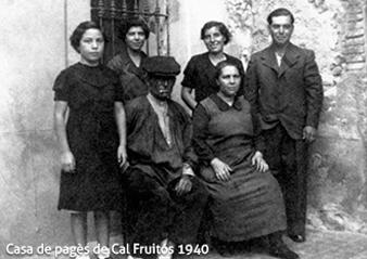 La família Fruitós al 1940