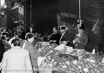 Cal Fruitós al mercat de Badalona al 1986