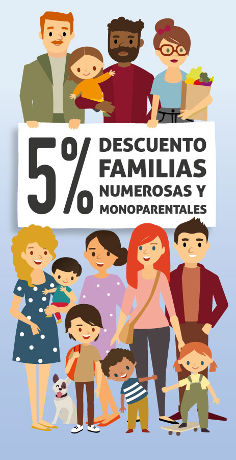 DESCUENTO FAMILIAS NUMEROSAS