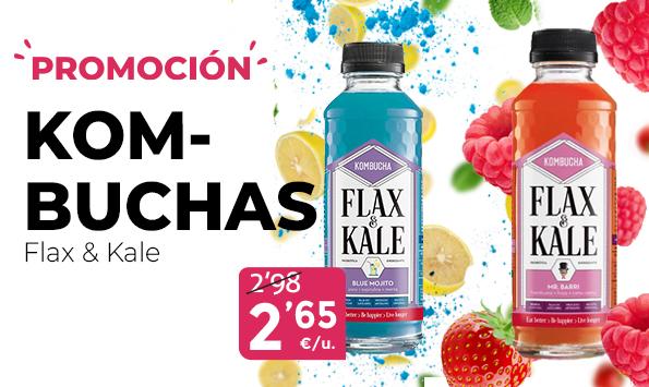 Promoción en Kombuchas Flax&Kale!